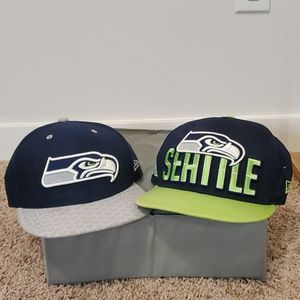 Two Seattle Seahawks Hats